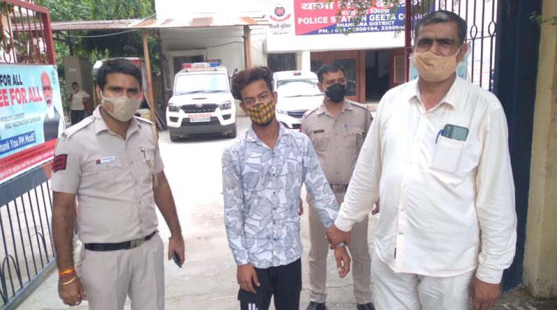 पूर्वी दिल्ली के गीता कालोनी थाना पुलिस ने एक शातिर वाहन चोर को दबोचा है
